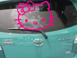 jual beli stiker mobil kitty 1m body kaca keren bukalapak