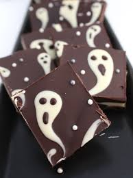 How To Make Halloween Ghosts by Ghastly Candy Bark The Simple Sweet Life