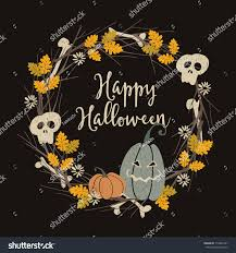 hand drawn vintage halloween party greeting stock vector 716881441