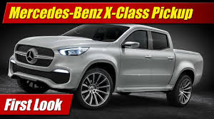 mercedes pickup 2017 mercedes benz x class pickup first look youtube