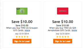 fry s 12 days of gift card deals save on aeropostale groupon cards
