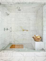 bathroom shower subway tile ideas grey varnished wooden vanity