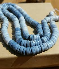 cornflower blue opal rare owyhee blue opal ombre heishi beads 6mm oregon blue opal