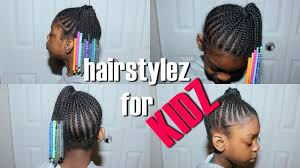 hairstyles for kidz beads n u0027 braids side pony requested youtube