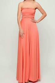 peach coral long infinity dresses bridesmaid dress lgn 1