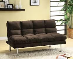 brown microfiber sofa bed amazon com furniture of america michel modern microfiber youth