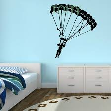 sport en chambre x parachutiste saut en parachute sticker mural sport décalque de
