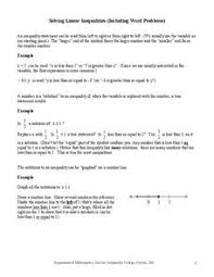 inequality word problems lesson plans u0026 worksheets