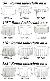 120 round tablecloth fits what size table round tablecloths wedding and party supplies orlando wholesale