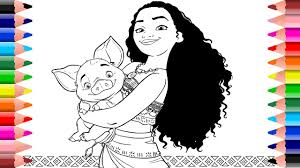 setoys princess moana coloring pages for kids youtube