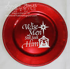 angie u0027s craft fusion christmas charger plates