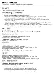 international relations specialist resume international studies sample resumes http exampleresumecv org