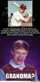 Meme For Grandmother - bad luck brian s grandmother by m1sa meme center
