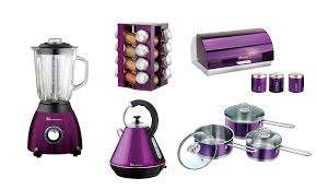 set of blender spice rack kettle bread bin 3 canisters and