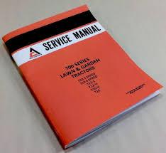 allis chalmers 700 series 710 712 716 service repair manual lawn