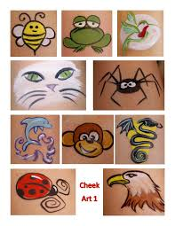 easy simple design face painting on cheek simple face painting