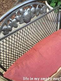 How To Paint Wrought Iron Patio Furniture by Life In My Empty Nest Painting Wrought Iron Furniture Take 2