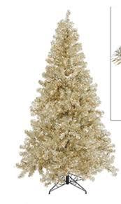 tinsel christmas tree vickerman 9 sparkling chagne artificial tinsel christmas