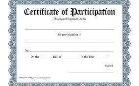 attendance certificates printable perfect attendance award