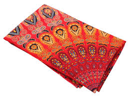 tapestry with colorful traditional motifs on a scarlet base u2013 home