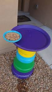 Flower Pot Bird Bath - how to make a clay pot birdbath gardening pinterest clay