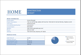 Construction Excel Templates Home Construction Budget Worksheet For Excel Excel Templates