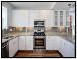White Kitchen Cabinets Stone Backsplash Home Design Ideas | kitchen white kitchen cabinets stone new house tile l and stones