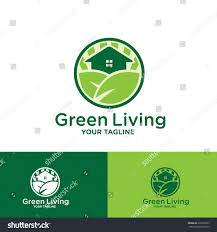 greenliving green living logo template design stock vector 636570833