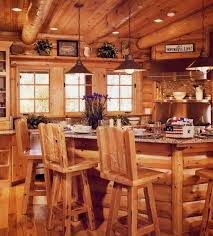 Lodge Bar Stools Cabin Kitchens Solid Wood Kitchen Cabinets - Cabin kitchen cabinets