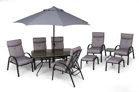 li lo westport dining suite 11 piece garden furniture set 6