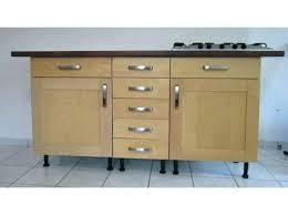 meubles cuisine bas meuble de cuisine avec plan de travail pas cher