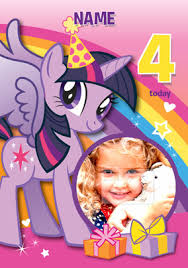 Mlp Birthday Card My Little Pony Rainbow Dash 4 Today Funky Pigeon