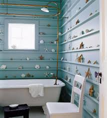 country blue bathroom decor toilet in light brown tile wall floor
