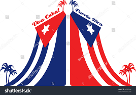 cuba puerto rico flag palm stock illustration 38702656 shutterstock