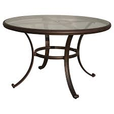 Small Outdoor Table by Winston 54 In Obscure Glass Top Round Dining Table Hayneedle