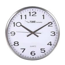 briscoes the time company stainless steel wall clock