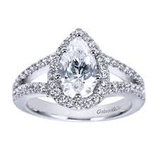 pear engagement ring platinum split shank pear diamond halo engagement ring