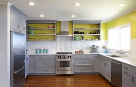 painted grey kitchen cabinet ideas 11 trendy ideas that bring gray and yellow to the kitchen