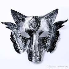 mask party animal performing bar horror mask men wolf masked