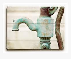 sign farmhouse bathroom decor rustic print aqua