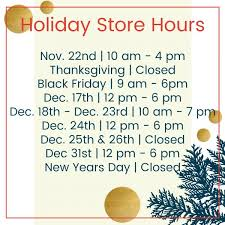 boutique store hours thanksgiving week what s open and