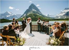 wedding venues in montana mountain wedding at many glacier hotel in glacier national park