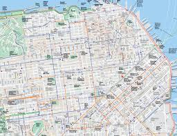 san francisco map for tourist downtown san francisco tourist map san francisco california
