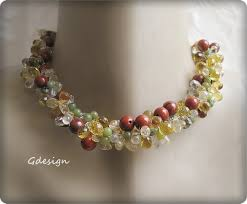 beads wedding necklace images Beach wedding necklace green jade terra cotta crystal beads jpg