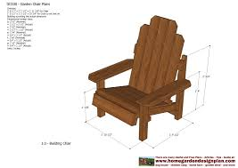 Free Wood Outdoor Chair Plans by Home Garden Plans Gc100 Garden Chair Plans Out Door Furniture