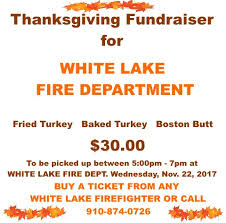 white lake thanksgiving fundraiser bladenonline