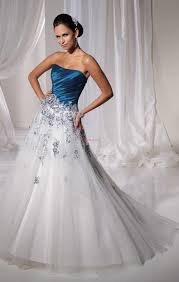 white wedding dress blue white wedding dresses weddingcafeny