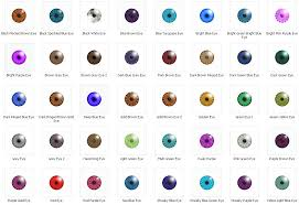 mod the sims 40 eye colours normal and unusual