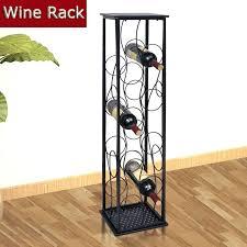 wine rack lightweight metal 6 bottle wine rack silver modern