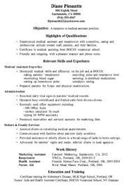 Samples Of Medical Assistant Resume by Sample Resume Receptionist Administrative Assistant Sample